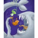 """איור """"כשהכריש והדג נפגשו לראשונה"""" מאת גלעד שליט קרן מאי מטקלף - Metcalfe - kmay"""