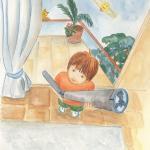 """איור בצבעי מים לספר ילדים """"הסוד של יהלי"""""""