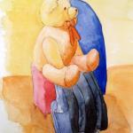 איור - דובי, איור לספרי ילדים מאת מאיירת אינה דוידוביץ