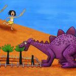דינוזאור בגינה