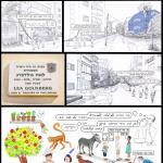 קומיקס שהוצג בתערוכת רחובות תל-אביב