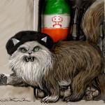 החתול הפרסי יוצא מהארון- איור - אבי כץ