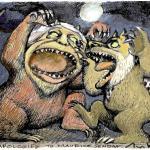 יצורי הפרא (עראפת ושרון) - איור - אבי כץ