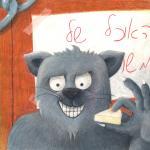 """דמות דמיונית """"משה החתול"""" - איור בפסטל שמן"""
