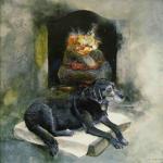 איור - כלב מול האש-אורנה איזנברג