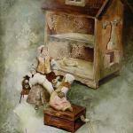 איור לתערוכת משחקי ילדים בבית יד לבנים - אורנה איזנברג