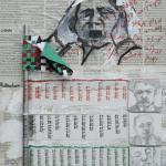 דגל פלסטין העוטף את המשוררים  שלנו,שנתנו  השראה  לתאמר מסאלחה בשירו