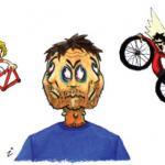איור לכתבה בעיתון אופניים