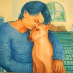 ציור שמן , מוקדש ללימור וכלבתה שהלכה לעולמה