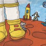"""מתוך הספר """"רוני עכברוני טס למאדים"""", מרים דרייפוס, 2007"""